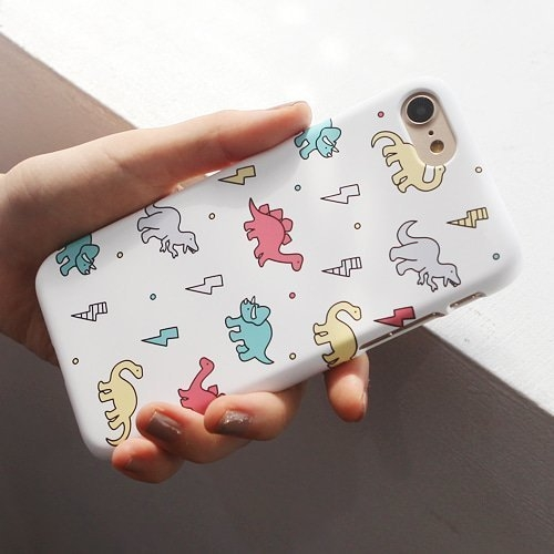 韓國 可愛恐龍 硬殼 手機殼│iPhone 6 6S 7 8 Plus X XS MAX XR 11 Pro LG G7 G8 V40 V50│z8074