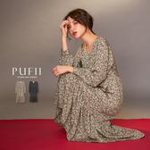 限量現貨◆PUFII-洋裝 縮腰碎花連身長洋裝-1226 現+預 冬【CP17832】