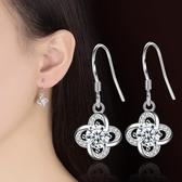 鍍銀耳飾耳環 耳鉤女耳飾銀配飾幸運葉草永恆花語耳墜《小師妹》ps360