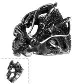 鈦鋼戒指 龍-歐美復古霸氣龐克生日情人節禮物男飾品73le238[時尚巴黎]