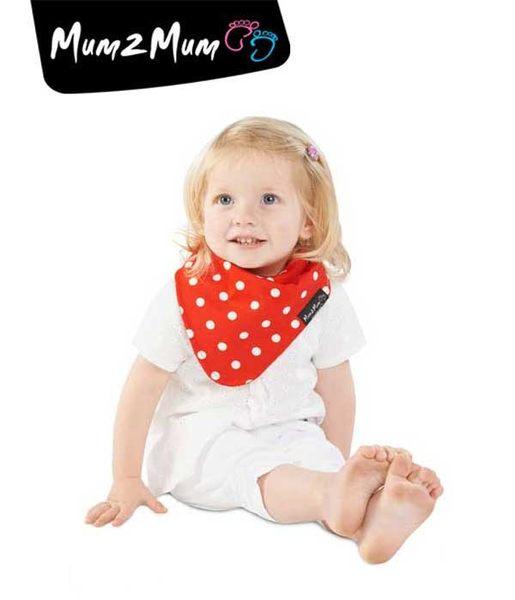 紐西蘭 MUM 2 MUM 雙面時尚造型口水巾圍兜 星星紅