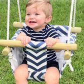 兒童吊椅帆布鞦韆室內戶外可折疊木質蕩鞦韆【步行者戶外生活館】