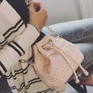 水桶包-韓國波希米亞風蕾絲風肩背包 手提包 水餃包 肩背包斜背包水桶包【AN SHOP】