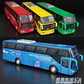 新品5開門合金雙層巴士模型仿真旅游大巴車公交車客車玩具車