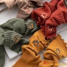襪子女可愛日系花邊中筒襪秋冬純棉長筒堆堆襪長襪【小獅子】