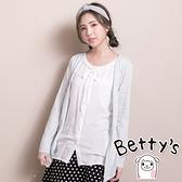 betty's貝蒂思 外搭罩衫感假兩件式上衣(綠色)
