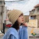 堆堆毛線帽子女秋冬百搭日系大頭圍保暖針織帽【創世紀生活館】