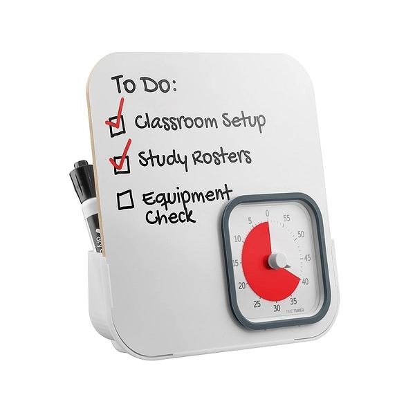 [2美國直購] Time Timer 60分鐘計時器 TTM9-DEB-W 附白板 MOD with Dry Erase Board