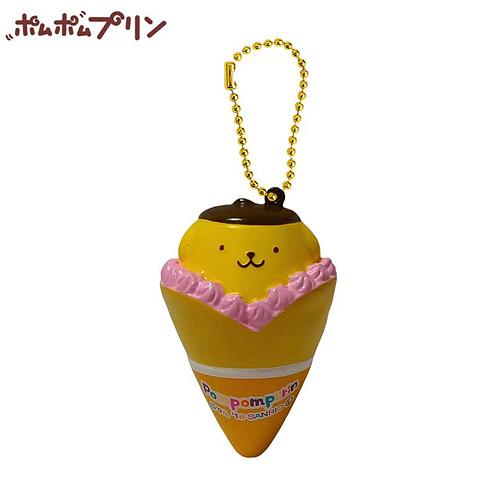 【日本正版商品】 布丁狗 黃色款 可麗餅 捏捏吊飾 美食 吊飾 擺飾 捏捏樂 Pom Purin 三麗鷗 - 610645