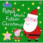 【麥克書店】PEPPA PIG: PEPPA MEETS FATHER CHRISTMAS /英文繪本 《主題:聖誕節.佩佩豬》