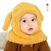 絨毛兔耳內刷毛連帽圍脖 童帽 圍巾 護耳帽 帽子