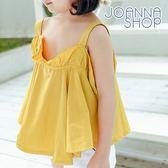 童裝  荷葉領浪漫大波浪上衣 女童 -Joanna Shop