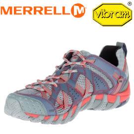 【MERRELL 美國 女款WATERPRO MAIPO水陸兩棲健行登山鞋《淺灰/紅》】ML37550/登山鞋/運動鞋★滿額送