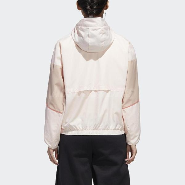 adidas 外套 W.N.D. Jacket 粉紅 黑 女款 張鈞甯款 風衣 訓練 運動休閒 【ACS】 GF0133