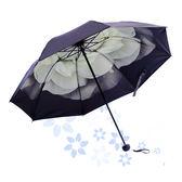遮陽傘防紫外線女雨傘摺疊韓製小清新晴雨兩用太陽傘男簡約小黑傘【快速出貨八五折鉅惠】