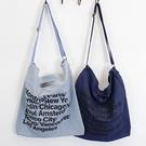 斜背包 字母 文藝 磁釦 手提包 帆布包 環保購物袋-手提/單肩/斜背包【AL022】 icoca  09/20