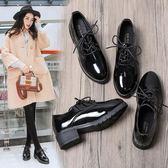 夏季新款女夏一腳蹬黑ins小皮鞋女學生韓版百搭復古原宿英倫 GB3453『優童屋』
