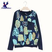 American Bluedeer-小樹斜口袋衣