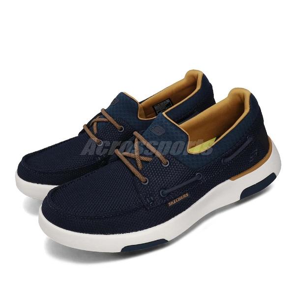 Skechers 休閒鞋 Bellinger-Lone 藍 白 男鞋 運動鞋 帆船鞋 【ACS】 65895NVY