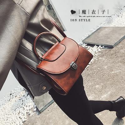 【QP133】魔衣子-秋冬百搭手提單肩斜挎小方包