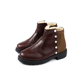HABU 靴子 短靴 咖啡色 童鞋 CX41-CF no019
