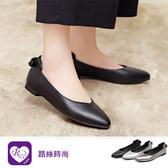歐美時尚金屬色系蝴蝶結裝飾百搭平底包鞋/3色/35-43碼 (RX1456-J-6) iRurus 路絲時尚