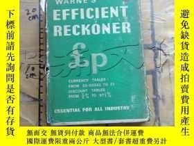 二手書博民逛書店Warne s罕見Efficient ReckonerY2524