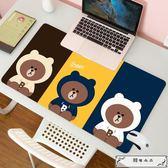 滑鼠墊 韓國動漫超大號鎖邊鼠標墊 定制 卡通可愛女生筆記本辦公桌墊耐臟