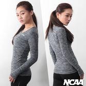 運動 吸濕排汗 專業緊身衣 NCAA-麻灰黑(女款)