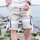 短褲男士褲子韓版潮流夏季七分寬鬆薄款五分休閒褲工裝褲迷彩 茱莉亞