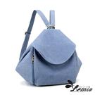 【Lemio】百搭帆布 可變換包形 兩用背包(天空藍)