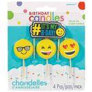 生日蠟燭5入-笑臉...