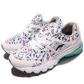 【六折特賣】Fila 慢跑鞋 J314R 白 彩色印花 運動鞋 女鞋 夏日配色 【PUMP306】 5J314R130