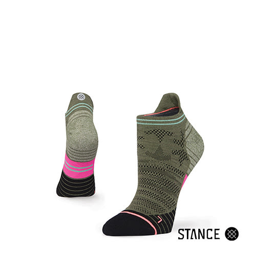 【STANCE】ENDEAVOR TAB-女襪-慢跑機能襪-Fusion Run系列(W248C17ELI OLV)