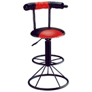 ONE HOUSE-普頌斯吧台椅(紅黑)