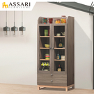 ASSARI-漾藍寶2.7尺展示櫃(寬80x深40x高183cm)