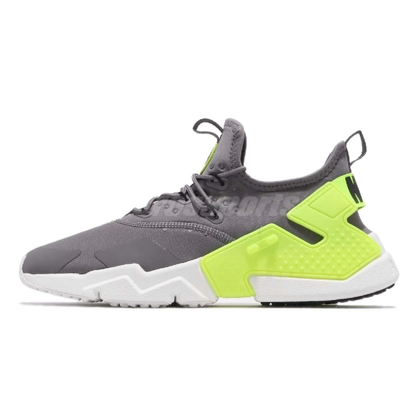 Nike 休閒慢跑鞋 Air Huarache Drift 灰 綠 男鞋 武士鞋 運動鞋【ACS】 AH7334-011