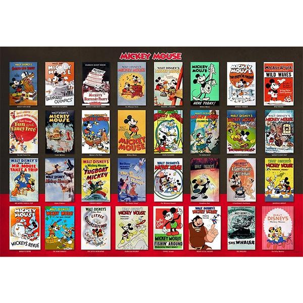 【日本進口拼圖】迪士尼 Disney 米老鼠電影海報集合 (1000片) D-1000-496