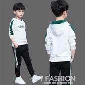 童裝男童秋裝套裝2019新款兒童運動兩件套男孩洋氣秋款韓版潮衣-ifashion