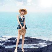 比基尼泳衣女保守分體顯瘦遮肚性感網紅小胸聚攏韓國溫泉比基尼游泳衣