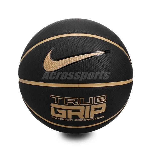 Nike 籃球 True Grip OT 8P 黑 金 標準7號球 室內外 耐磨 【ACS】 N100052507-507