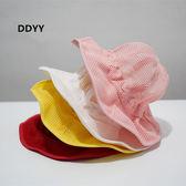 兒童帽子夏寶寶漁夫帽網眼透氣嬰兒太陽帽薄款男童女童防曬遮陽帽 嬡孕哺