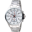 SEIKO精工經典潮流時尚計時腕錶 4T57-00J0S SKS623P1 白