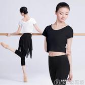 舞蹈褲  成人舞蹈服套裝拉丁舞練習服裝女修身跳舞兩件套現代舞練功服 歌莉婭