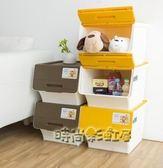 茶花收納箱衣物儲物箱塑料折疊整理箱兒童玩具收納箱大小號3個裝MBS「時尚彩虹屋」
