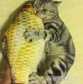 貓玩具貓薄荷逗貓貓咬牙磨牙的小貓抱枕寵物仿真貓咪博荷草魚枕頭     時尚教主