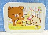 【震撼精品百貨】拉拉熊懶懶熊_Rilakkuma~San-X 拉拉熊塑膠托盤/餐盤-乾杯/L#99158