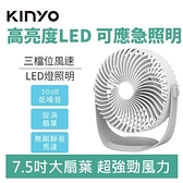 【露營超好用】KINYO UF-182 充插兩用 7吋 USB風扇 DC循環扇