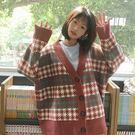 秋冬季韓版百搭慵懶風寬鬆粗毛線中長針織開衫外套chic毛衣學生女『摩登大道』