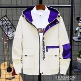 冬季牛仔夾克男士韓版修身秋冬工裝外套情侶上衣棒球服外衣潮男裝-ifashion
